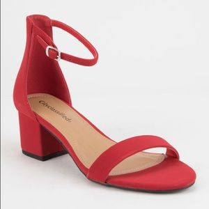 Shoes - City Classified red heeled sandals